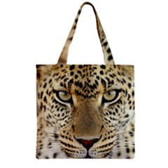 Leopard Face Grocery Tote Bag by BangZart