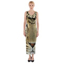 Leopard Face Fitted Maxi Dress