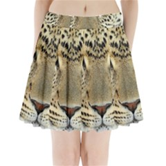 Leopard Face Pleated Mini Skirt