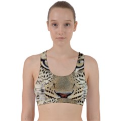 Leopard Face Back Weave Sports Bra