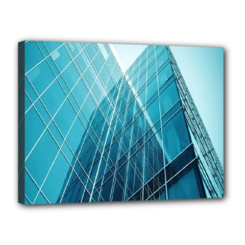 Glass Bulding Canvas 16  X 12  by BangZart