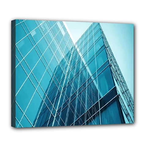 Glass Bulding Deluxe Canvas 24  X 20   by BangZart