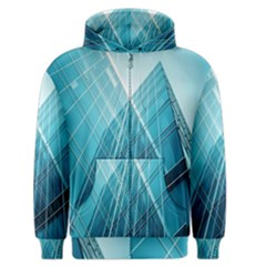 Glass Bulding Men s Zipper Hoodie