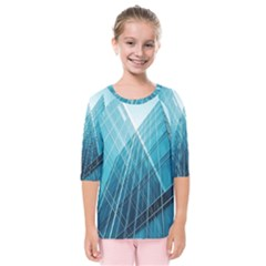 Glass Bulding Kids  Quarter Sleeve Raglan Tee