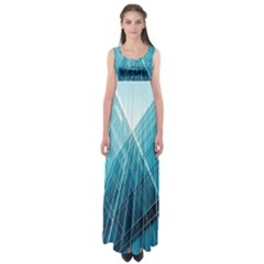 Glass Bulding Empire Waist Maxi Dress