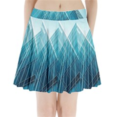 Glass Bulding Pleated Mini Skirt by BangZart