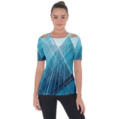 Glass Bulding Short Sleeve Top
