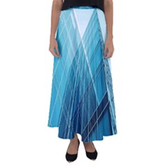 Glass Bulding Flared Maxi Skirt by BangZart