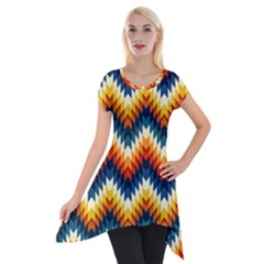 The Amazing Pattern Library Short Sleeve Side Drop Tunic