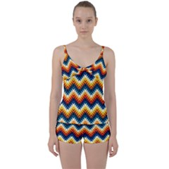 The Amazing Pattern Library Tie Front Two Piece Tankini