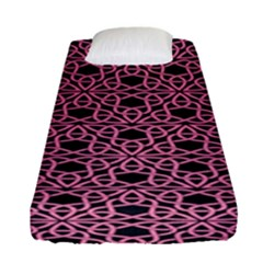 Triangle Knot Pink And Black Fabric Fitted Sheet (single Size)