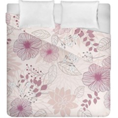 Leaves Pattern Duvet Cover Double Side (king Size) by BangZart