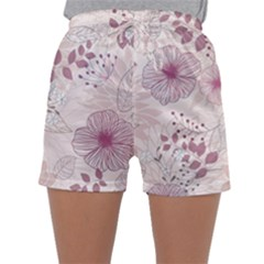 Leaves Pattern Sleepwear Shorts