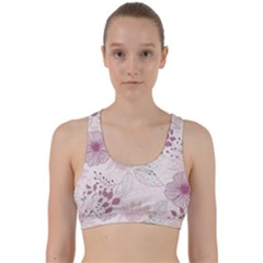 Leaves Pattern Back Weave Sports Bra