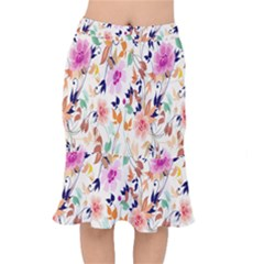 Vector Floral Art Mermaid Skirt