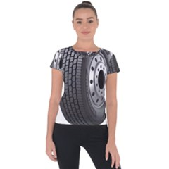 Tire Short Sleeve Sports Top