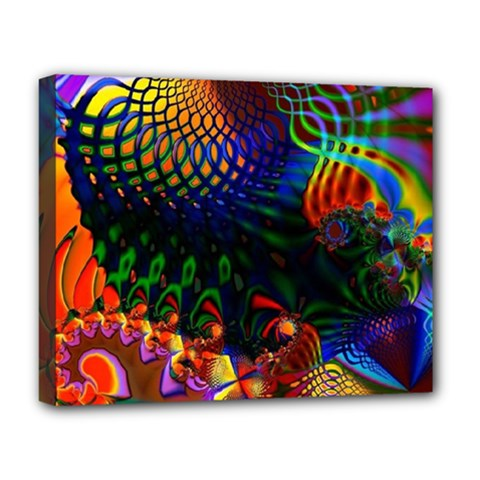 Colored Fractal Deluxe Canvas 20  X 16