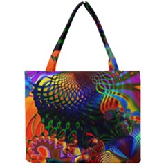 Colored Fractal Mini Tote Bag by BangZart