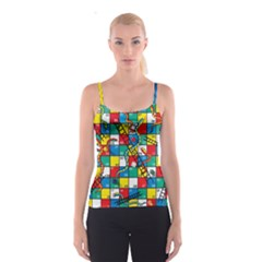 Snakes And Ladders Spaghetti Strap Top