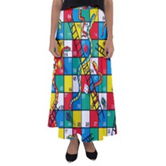 Snakes And Ladders Flared Maxi Skirt