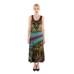 Fractal Snake Skin Sleeveless Maxi Dress by BangZart