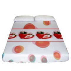 Strawberries Fitted Sheet (king Size) by SuperPatterns