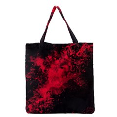 Red Smoke Grocery Tote Bag by berwies
