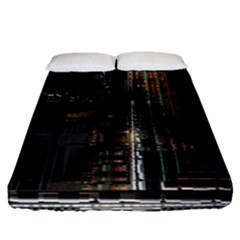 Blacktechnology Circuit Board Electronic Computer Fitted Sheet (queen Size) by BangZart