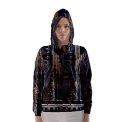 Blacktechnology Circuit Board Electronic Computer Hooded Wind Breaker (women) by BangZart