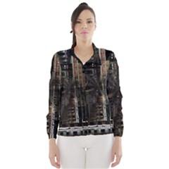 Blacktechnology Circuit Board Electronic Computer Wind Breaker (women) by BangZart
