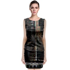 Blacktechnology Circuit Board Electronic Computer Classic Sleeveless Midi Dress