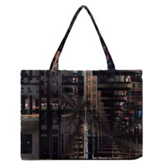Blacktechnology Circuit Board Electronic Computer Medium Zipper Tote Bag