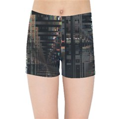 Blacktechnology Circuit Board Electronic Computer Kids Sports Shorts by BangZart