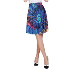 Top Peacock Feathers A Line Skirt