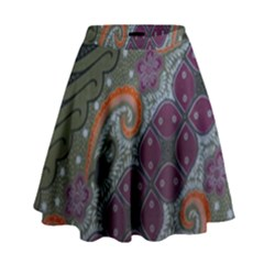 Batik Art Pattern  High Waist Skirt