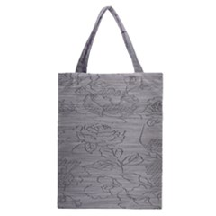 Embossed Rose Pattern Classic Tote Bag by BangZart