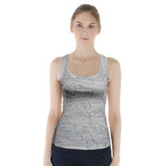 Embossed Rose Pattern Racer Back Sports Top