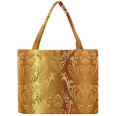 Golden Pattern Vintage Gradient Vector Mini Tote Bag by BangZart