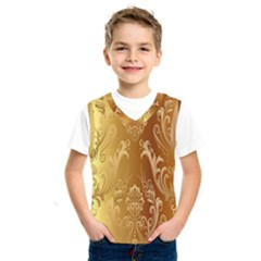 Golden Pattern Vintage Gradient Vector Kids  Sportswear