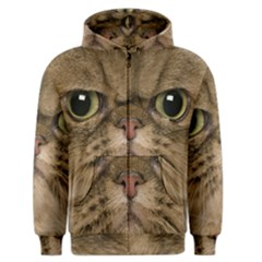 Cute Persian Catface In Closeup Men s Zipper Hoodie by BangZart