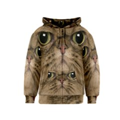 Cute Persian Catface In Closeup Kids  Zipper Hoodie by BangZart