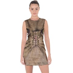 Cute Persian Catface In Closeup Lace Up Front Bodycon Dress by BangZart
