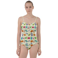 Group Of Funny Dinosaurs Graphic Sweetheart Tankini Set