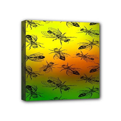 Insect Pattern Mini Canvas 4  X 4