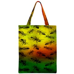 Insect Pattern Zipper Classic Tote Bag