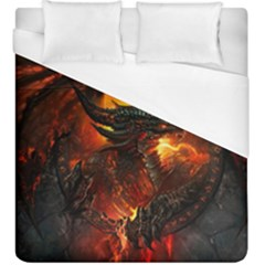 Dragon Legend Art Fire Digital Fantasy Duvet Cover (king Size) by BangZart