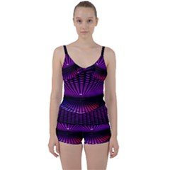 Glass Ball Texture Abstract Tie Front Two Piece Tankini