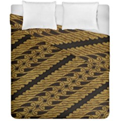 Traditional Art Indonesian Batik Duvet Cover Double Side (california King Size)