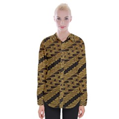 Traditional Art Indonesian Batik Womens Long Sleeve Shirt