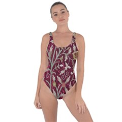 Crewel Fabric Tree Of Life Maroon Bring Sexy Back Swimsuit